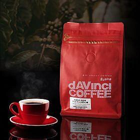 dAVinci Ethiopia Sidamo 衣索比亞 西達摩 whole coffee beans with cup of coffee